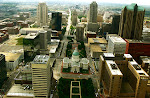 Skyline of St. Louis, Missouri, taken from the Arch.