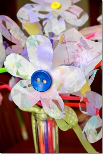Contact Paper Flower Craft for Kids