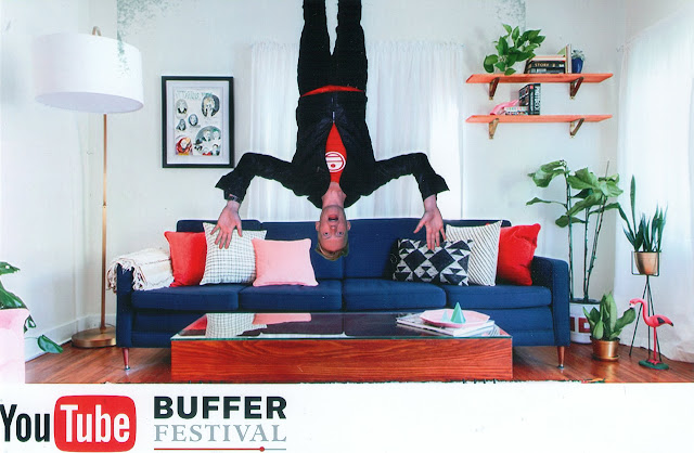 I am upside down at Bufferfest in Toronto, Ontario, Canada