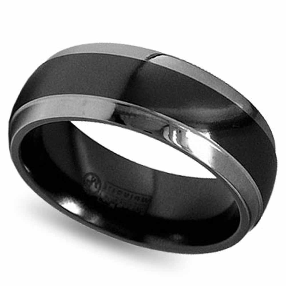 Black Titanium Wedding Rings 2