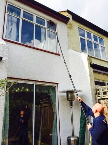 Emma in Bromley Window Cleaning with Stains on Panes