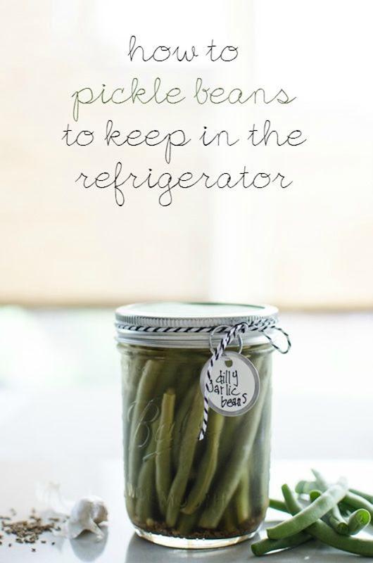 Refrigerator Dilly Garlic Beans