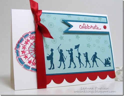 LeAnne Pugliese WeeInklings Paper Players 249 Patriotic Celebration Card