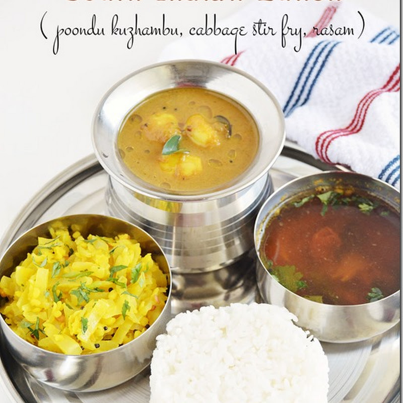 7s menu series–9 (South Indian lunch)