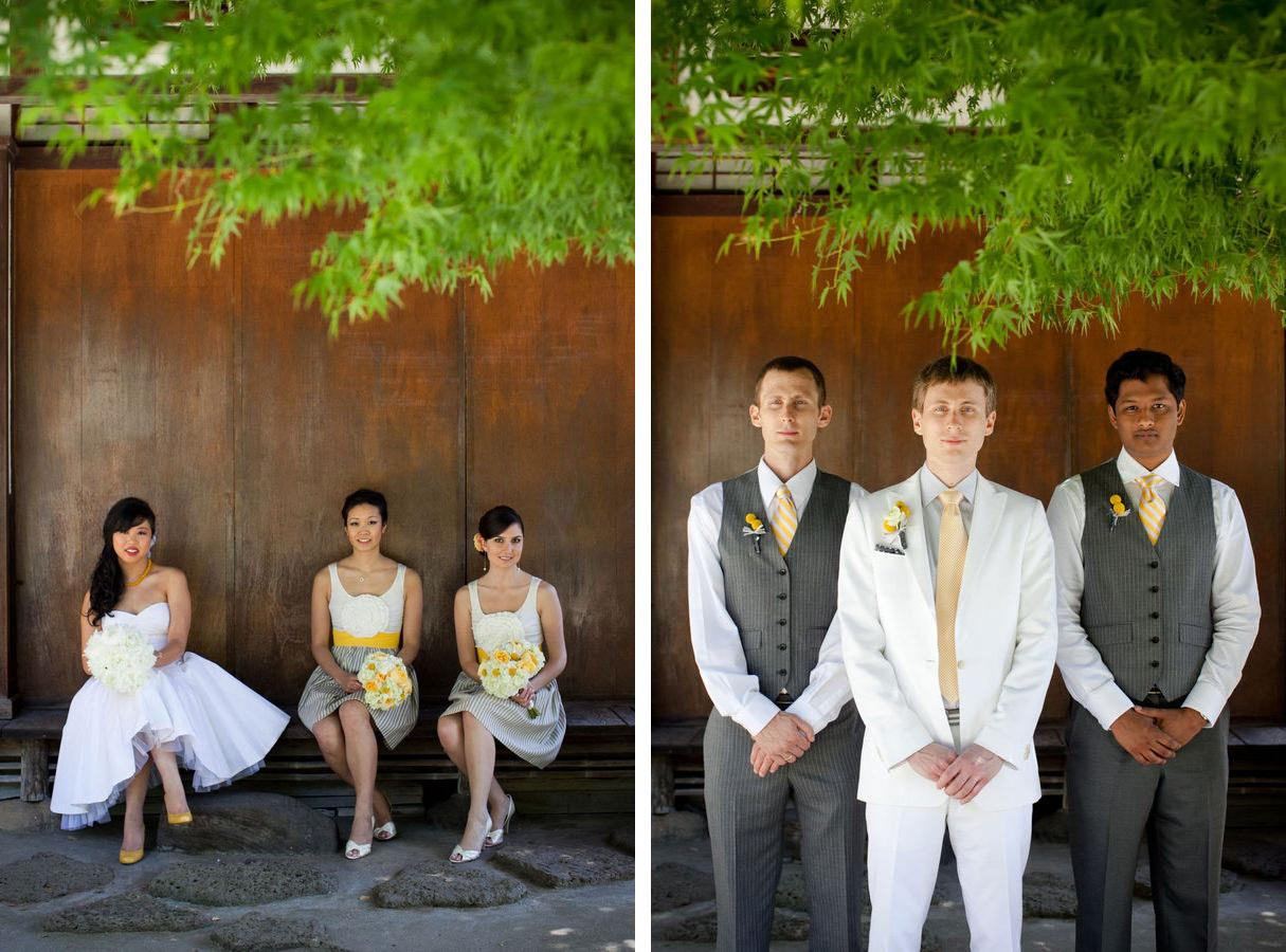 Vibrant Yellow & Grey Wedding