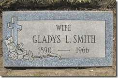 GOULD_Gladys L married name SMITH_1890-1966_GrandLawnCem DetroitMich_taken by FAG volunteer 18 Apr 2012