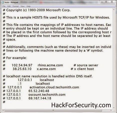 hosts files copy