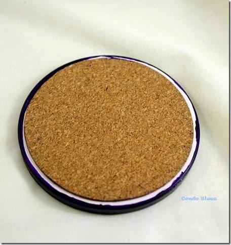 glue cork to coater bottom