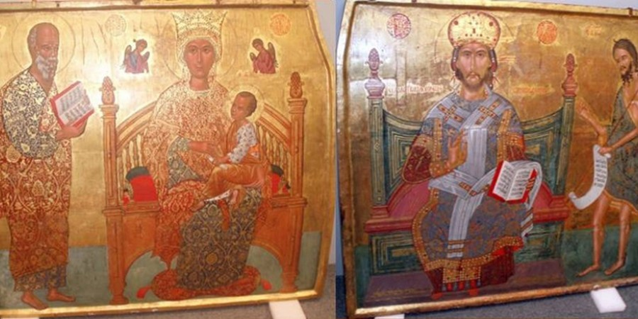 Icons stolen in Turkish invasion back in Cyprus