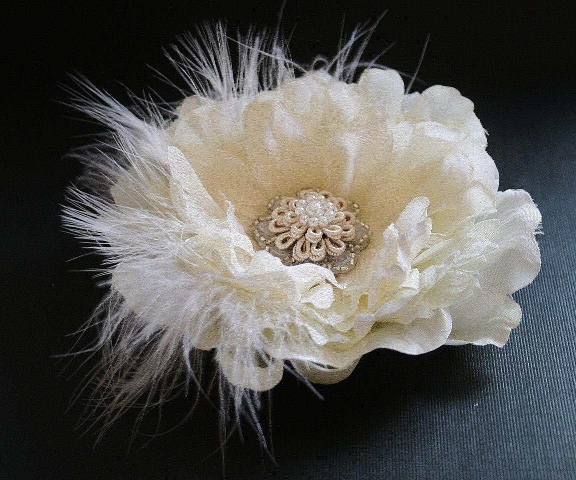 Headpiece, Ivory Wedding