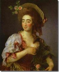 Dmitry Levitzky - Portrait of Anna Davia (D Avia) Bernucci