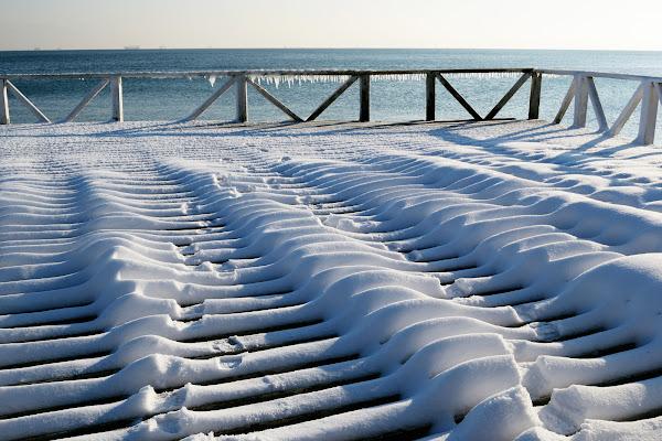 одесса зима снег черное море