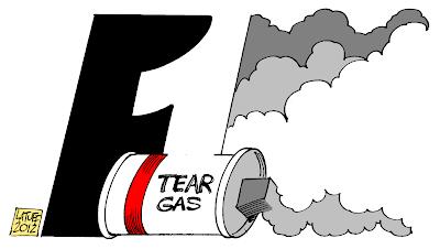 логотип Ф1 - карикатура Carlos Latuff на тему Гран-при Бахрейна 2012