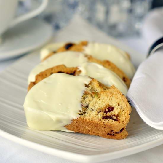 Pistachio Cranberry White Chocolate Biscotti Recipe | Yummly