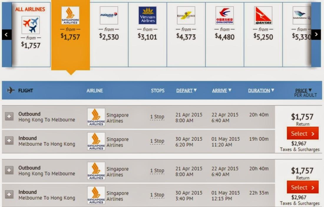 【澳洲優惠】新加坡航空 - 經新加坡去澳洲各大城市$1,700起(連稅$4,674),2至6月出發。
