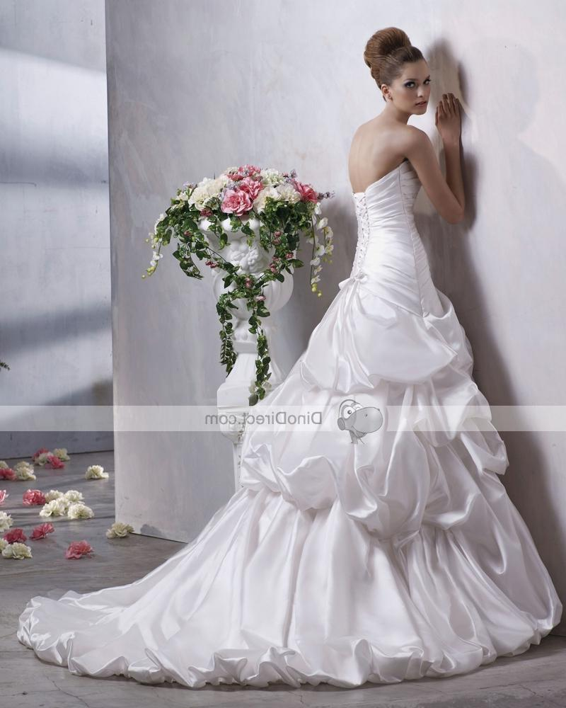 Bridal Ball Gown Wedding Dress. The back features an open back,