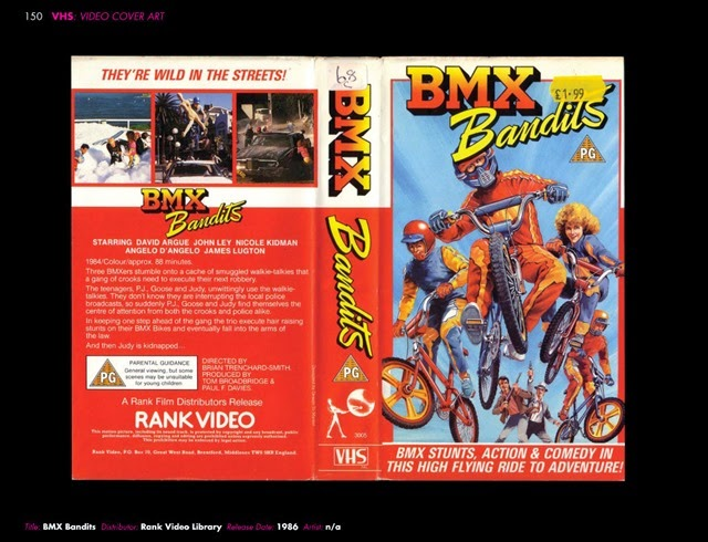 VHS Video Cover Art 1980s to Early 1990s BMX Bandits