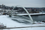 this is the 3rd time we've played here in Des Moines...the footbridge is new...and is that an ice skating rink on the far right?