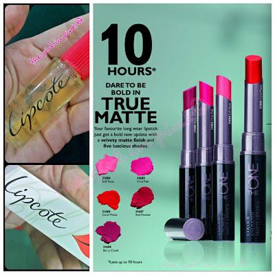 lipstick, lipstick sealer, oriflame, lipcote