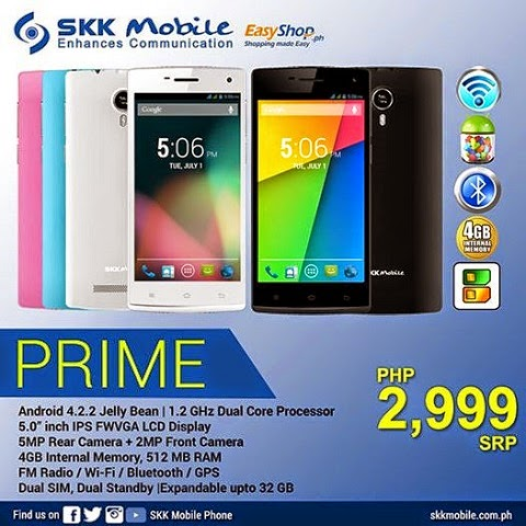 Image of SKK Prime Dual Core 5 inch IPS Android Jelly Bean Smartphone