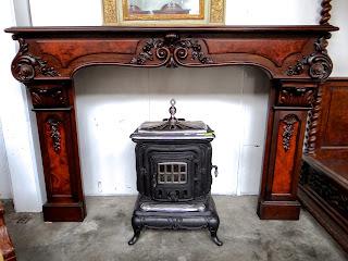 Антикварный портал для камина. 19- век. 213/60/153 см. 4500 евро.