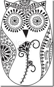 dibujos de buhod en blanco y negro (12)