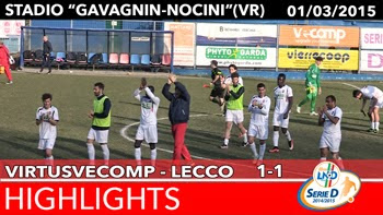 VirtusVecomp - Lecco - Highlights del 01-03-2015