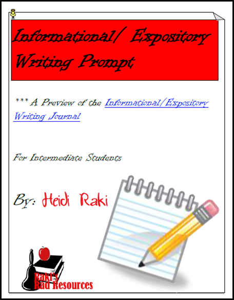 Free downloadable informational writing prompt that takes students through the entire writing process - from Raki's Rad Resources.