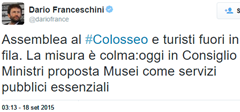 Franceschini Tweet