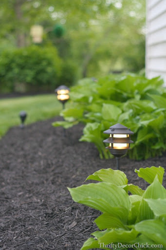 DIY landscaping lighting & DIY Landscaping Lighting Tutorial from Thrifty Decor Chick azcodes.com