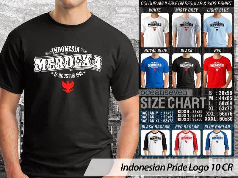 KAOS Indonesia Merdeka Indonesian Pride Logo 10 distro ocean seven