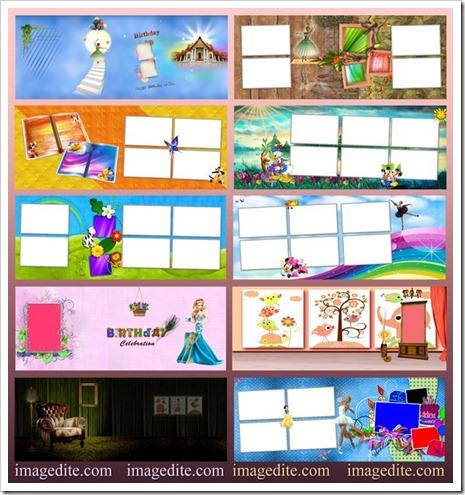 Digital photo album templates for child