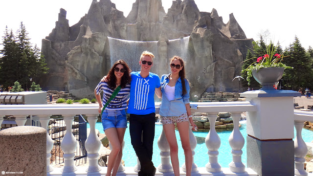 Matt with Team Mexico at Canada's Wonderland in Vaughan, Ontario, Canada