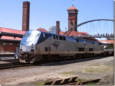 IMG_6059 Amtrak P42DC #90 at Union Station in Portland, Oregon on May 9, 2009