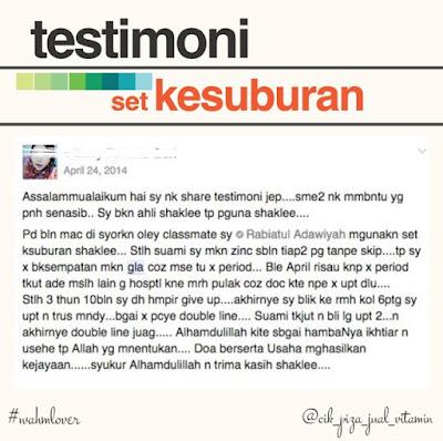testimoni set kesuburan shaklee