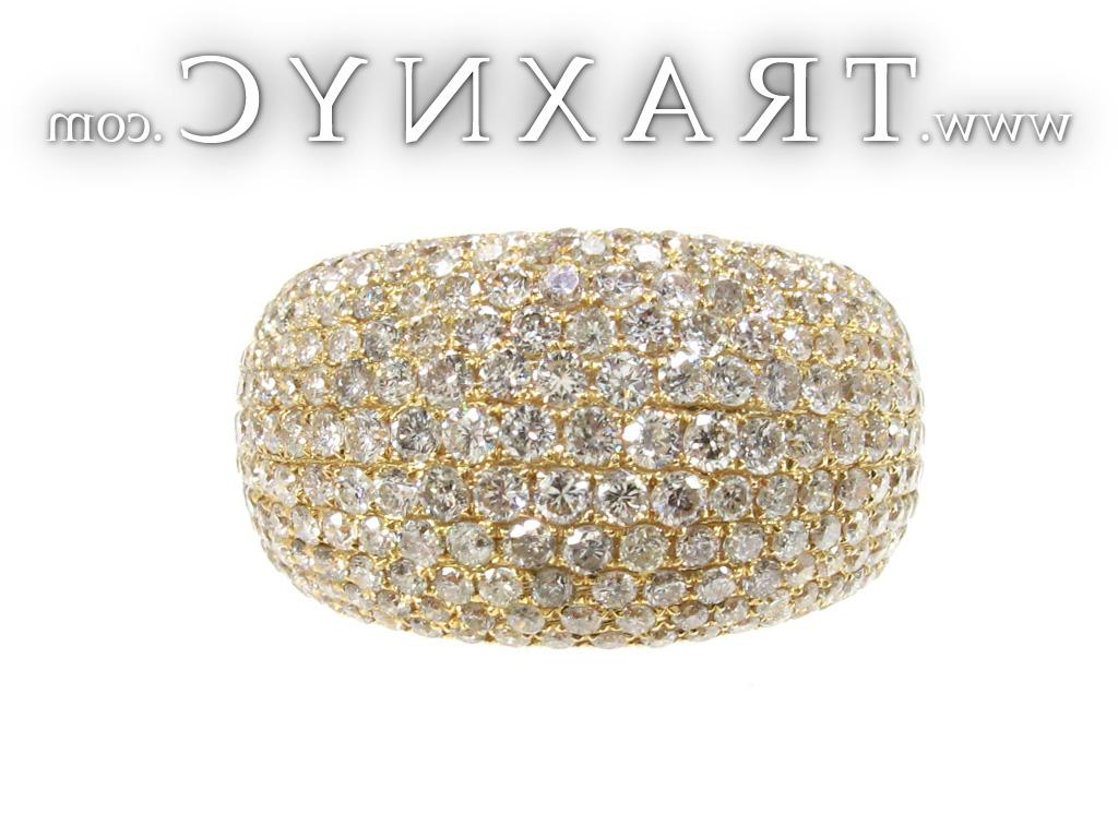Full Size Picture for Unisex Yellow Gold Pave Diamond Ring 21502