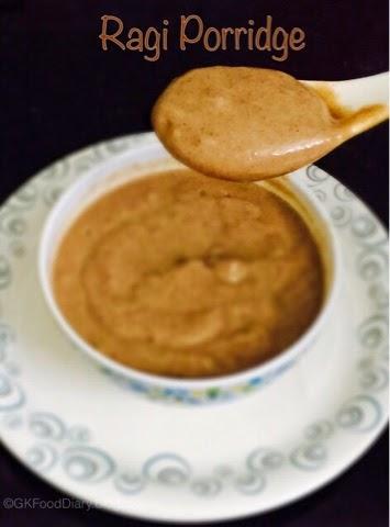 Homemade Ragi Porridge Recipe for Babies   How to make Ragi Porridge 1