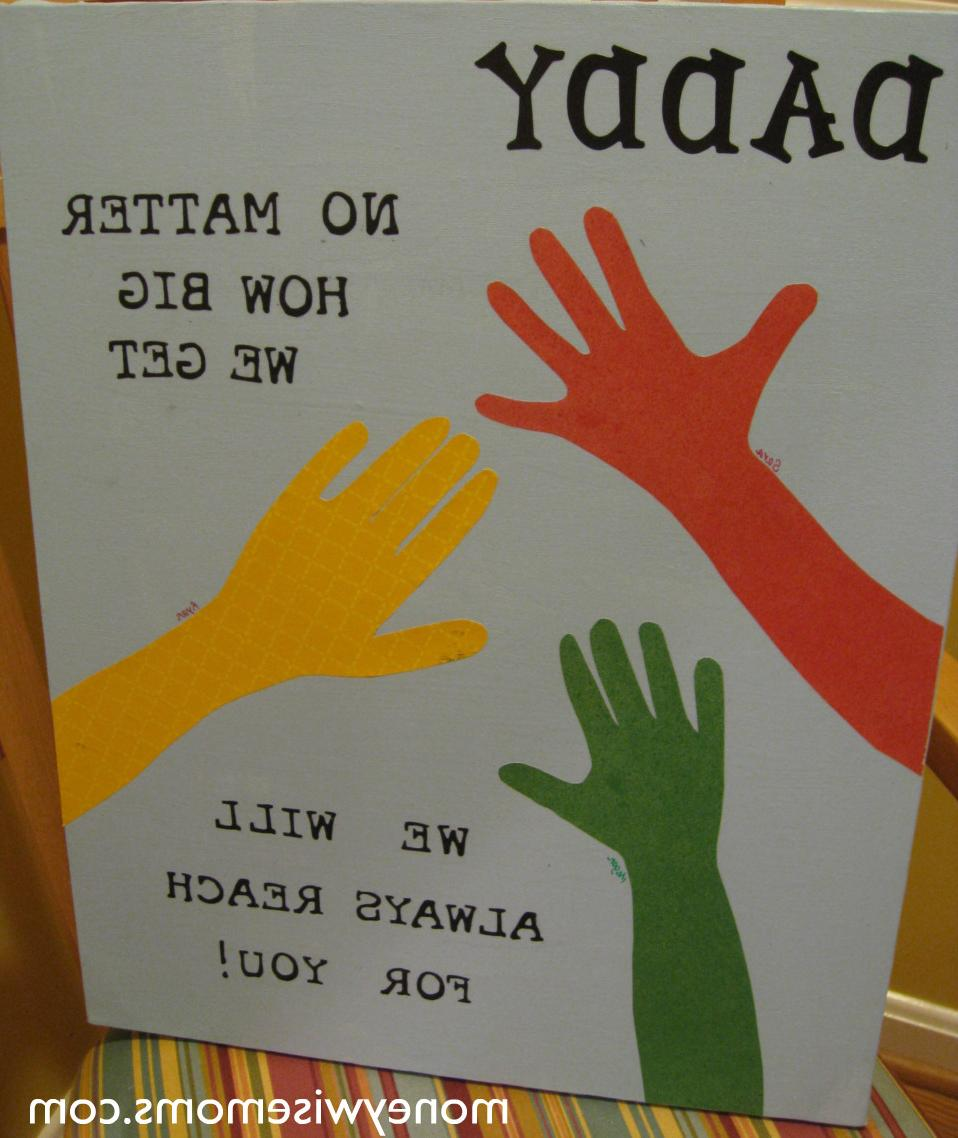 We traced our hands.