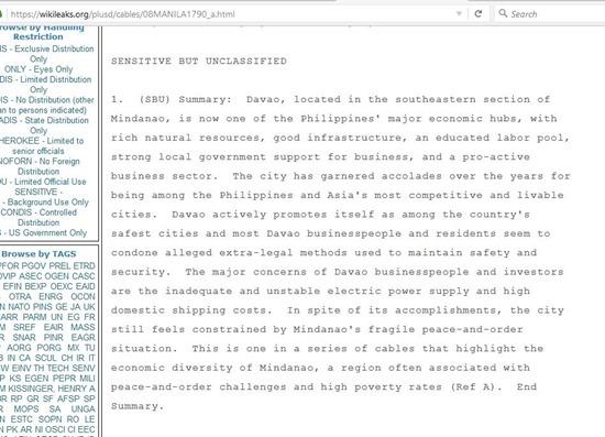 Davao Wikileaks 3
