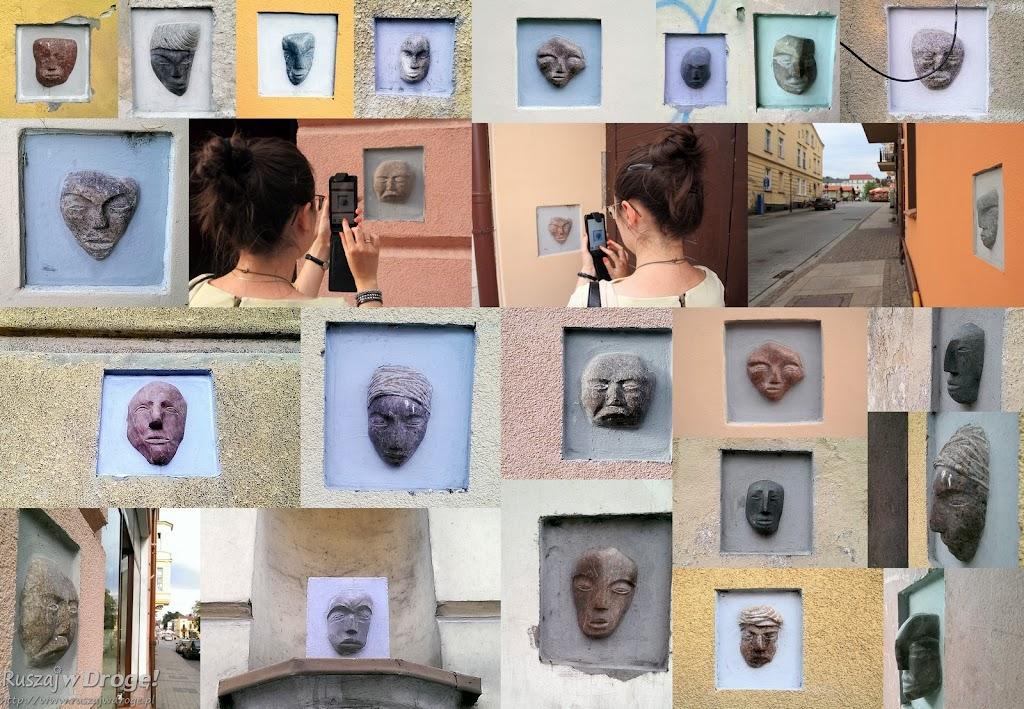 Świecie - tajemnicze kamienne głowy na elewacjach budynków