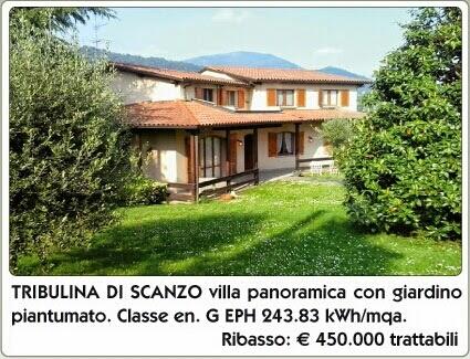 Scanzorosciate località Tribulina vendita villa panoramica