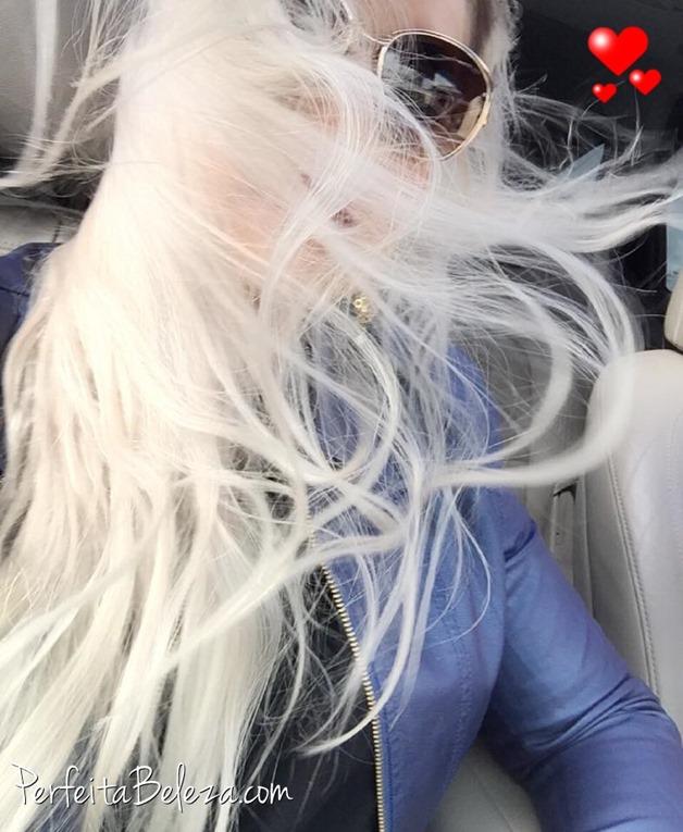 cabelo branco, cabelo platinado, perfeita beleza, tatiane sanches, matizador, desamarelador senses