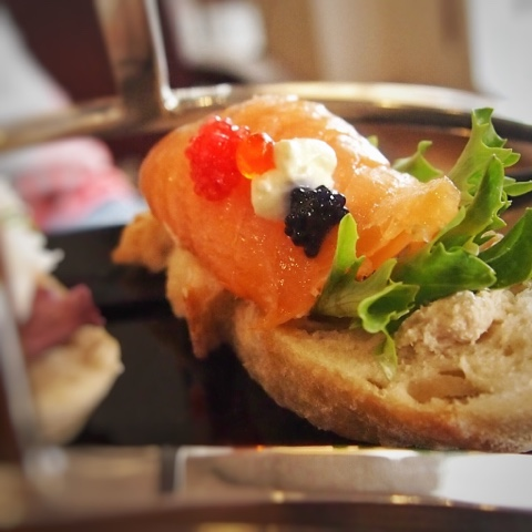 Smoked Salmon and Prawn Open-Faced Sandwiches