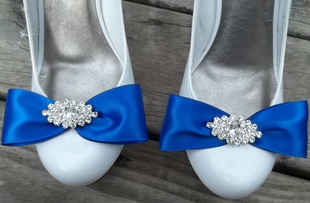 Royal Blue Satin Bridal Shoe