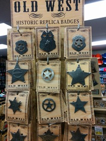 Badges from the old west