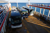 Weer terug op de veerboot naar Zakynthos.