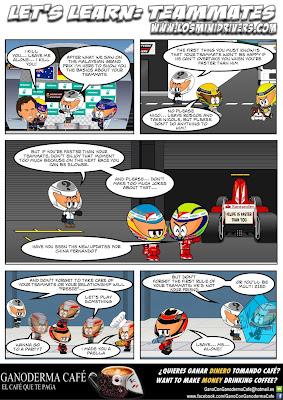 комикс MiniDrivers о напарниках после Гран-при Малайзии 2013