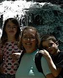 Beth and kids at Minnehaha Falls