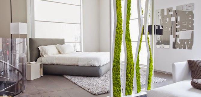 Pflanzen Moos Raumteiler Ideen