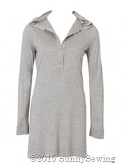 burda 122009 120 hooded henley tunic